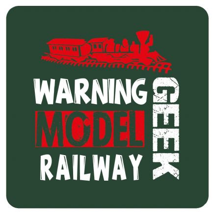 Warning Model Railway Geek Metal Wall Sign